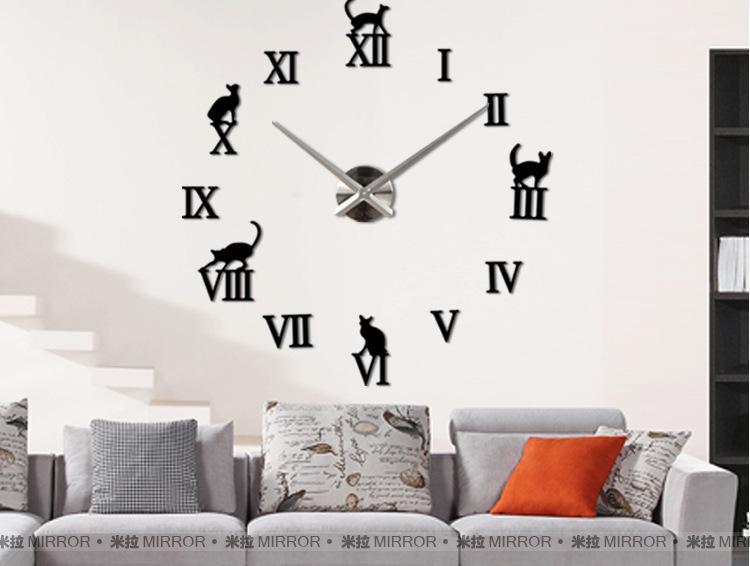 นาฬิกาDIY ขนาดจัมโบ้90cm สีดำ big8A