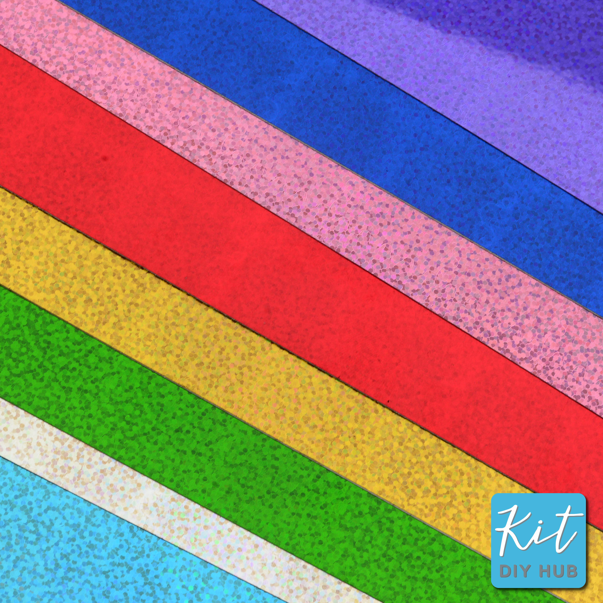 สติ๊กเกอร์ เลเซอร์ ลายจุด 9 สี