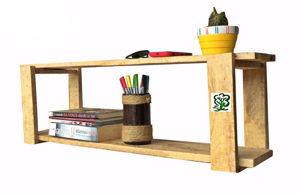 K'DAUZ ชั้นวางติดผนัง สามารถตั้งโต๊ะทำงานได้