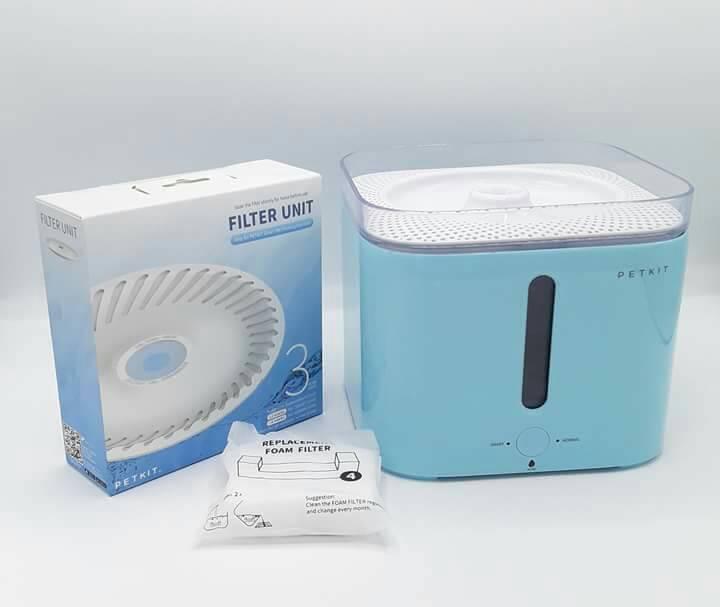 เครื่องให้น้ำสัตว์เลี้ยงน้ำพุแบบกรองน้ำพร้อมระบบอัตโนมัติ PETKIT EverSweet ชุดสุดคุ้มสีฟ้า