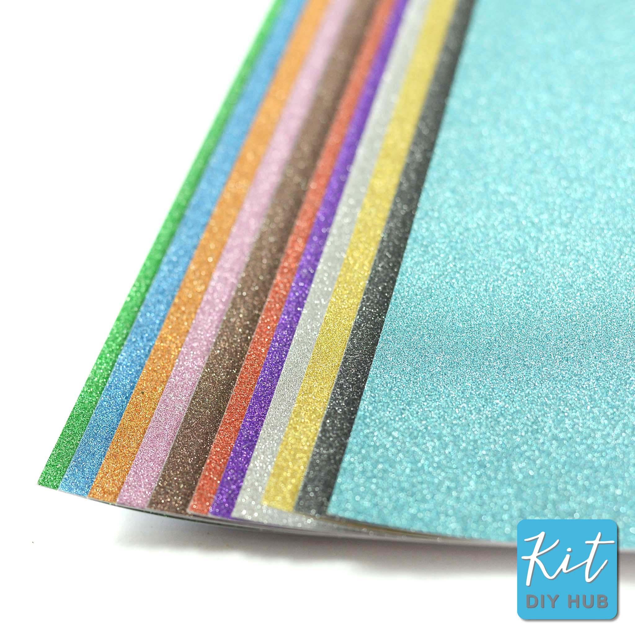 กระดาษกากเพชร A4 Glitterling Clour Card 12สี