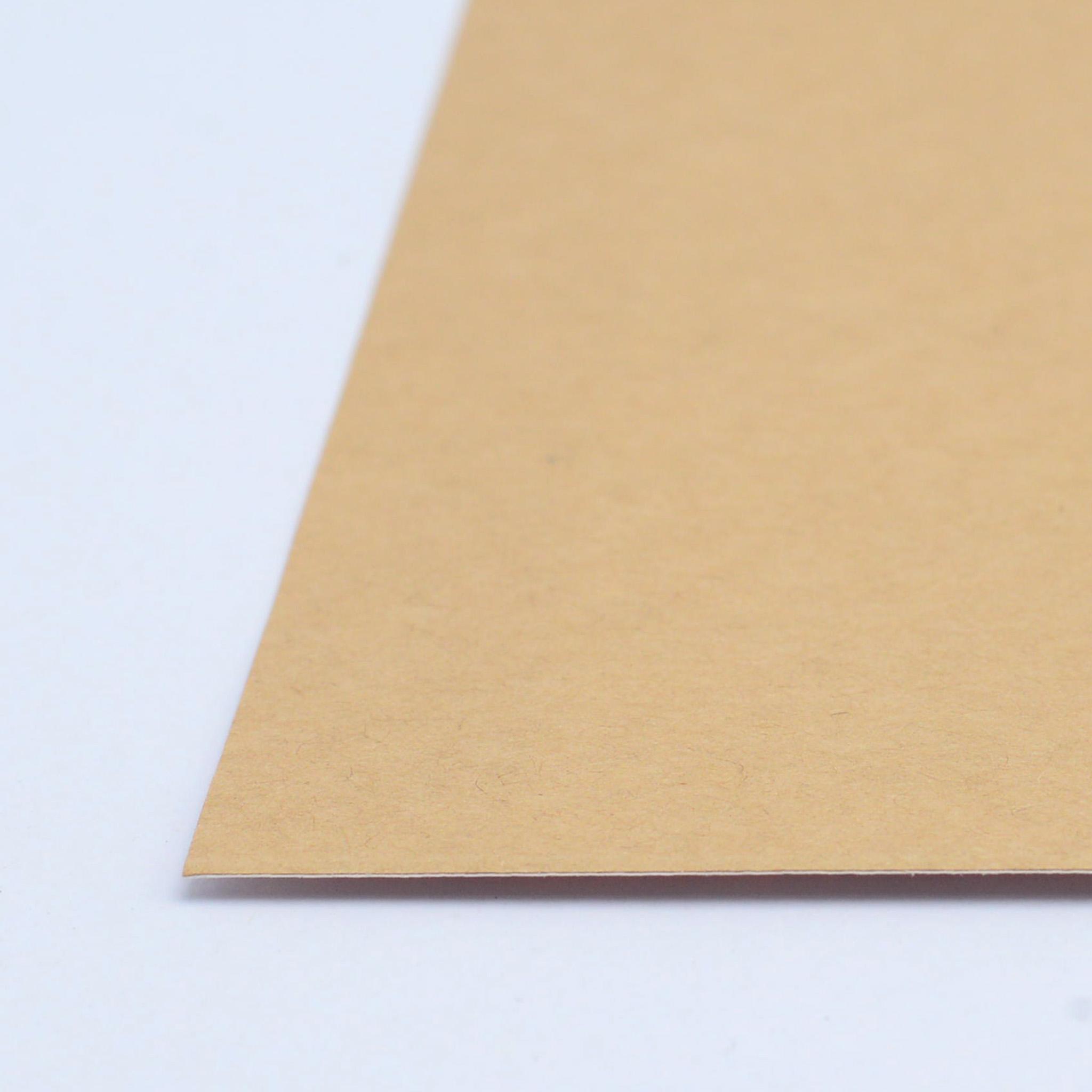 สติ๊กเกอร์กระดาษคราฟน้ำตาล A4