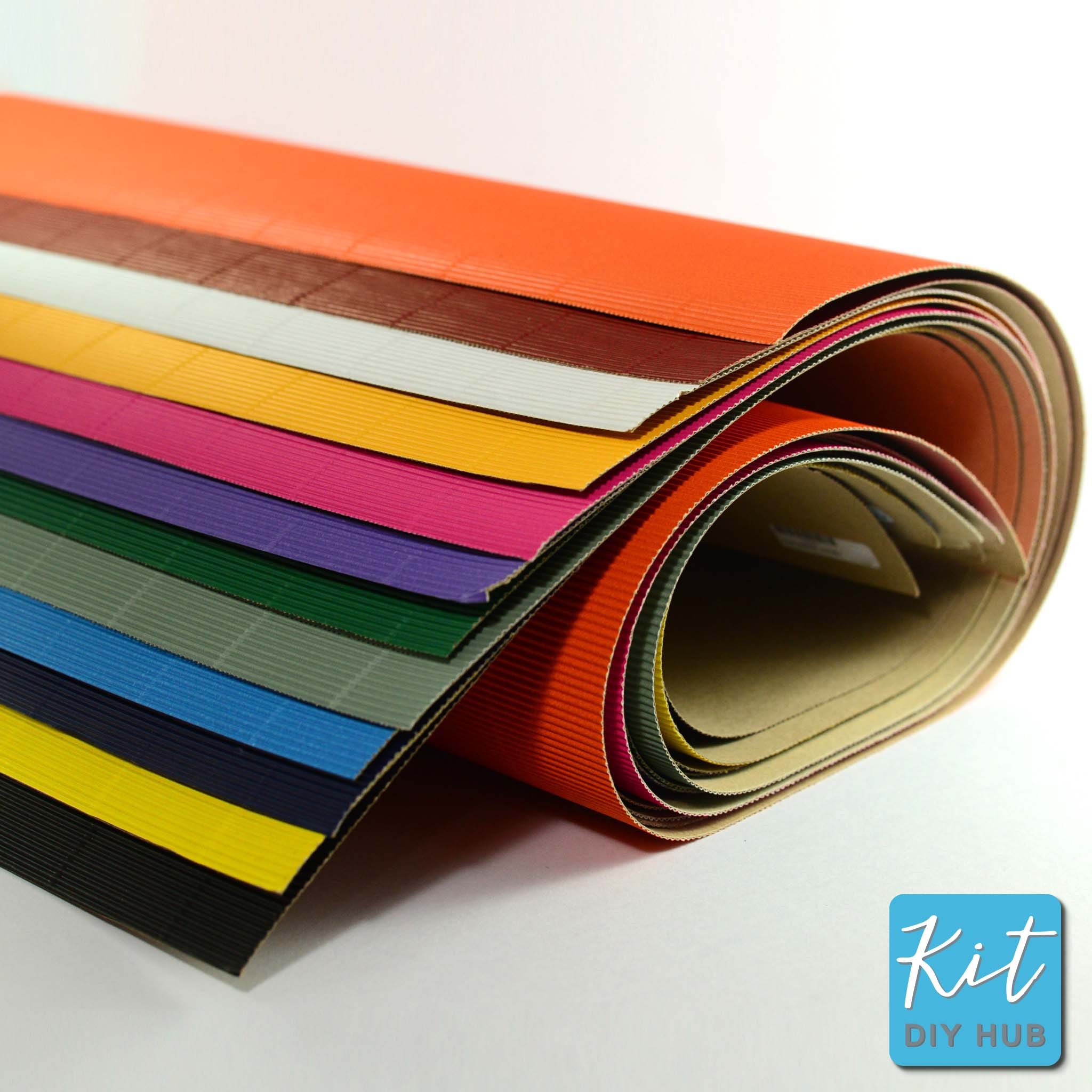 กระดาษลูกฟูกลอนเล็ก 51x76ซม. 12สี