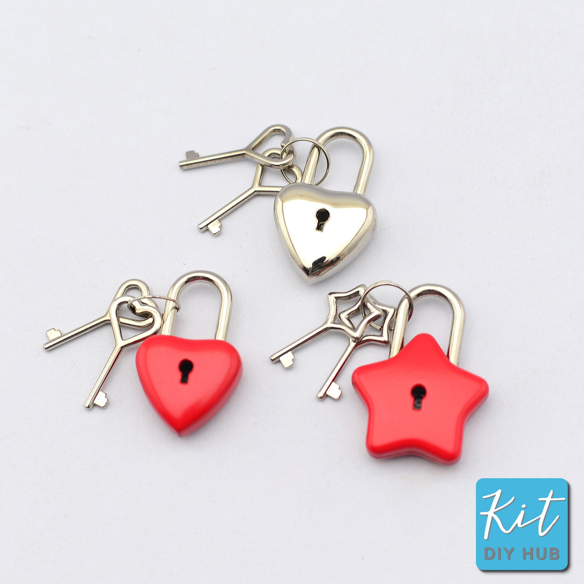 แม่กุญแจแฟนซี (กุญแจคู่รัก) 3แบบ