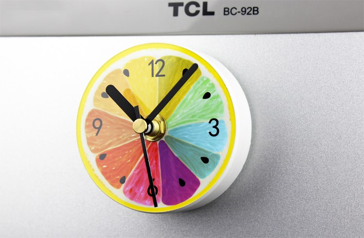 นาฬิกาแม่เหล็กติดตู้เย็น ขนาด 8.5 ซม gear36