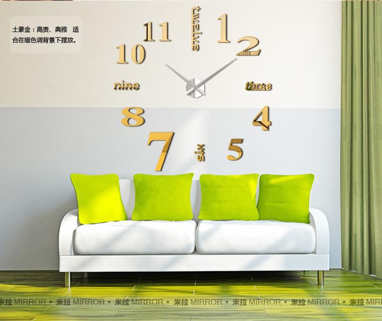 นาฬิกาDIY ขนาดจัมโบ้90cm สีทอง big2C