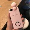 เคส iPhone Smile สีชมพู มีไฟ Selfie