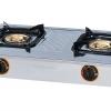 DF-552-S เตาแก๊ส เตาแก๊สสแตนเลส แบบตั้งโต๊ะ หัวเตาแก๊สแบบทองเหลือง 2 หัวเตา