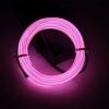 EL Wire 5 เมตร + รางถ่าน AA 2 ก้อน / สีชมพู