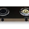 DH-8718-IF เตาแก๊ส หน้ากระจกนิรภัยสีดำ แบบตั้งโต๊ะ หัวเตาแก๊ส 2 หัวเตา