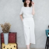 ❤Short-sleeved top + pants set❤ Off_White