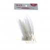 ขนนกขาว เล็ก (1x10) ย.5นิ้ว