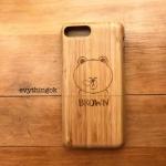 เคสไม้แท้ iPhone 7 plus สลักเลเซอร์