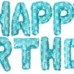 ลูกโป่งฟอยล์ HAPPY BIRTHDAY [ยกเซต] ขนาด 16 นิ้ว-สีฟ้าเขียวลายมิคกี้