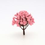 โมเดลต้นไม้สีชมพู สูง 7 ซม. (ชมพูพันธุ์ทิพย์ นางพญาเสือโคร่ง ซากุระ)