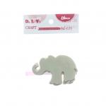 ไม้ประดิษฐ์ ช้าง (1x3) 8x8.5x0.3ซม.
