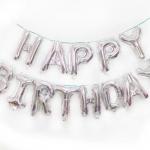 ลูกโป่งฟอยล์ HAPPY BIRTHDAY [ยกเซต] ขนาด 16 นิ้ว-สีเงิน