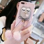 เคส iPhone นกฮูก สีชมพู