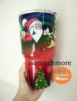 แก้วYETI แก้วเก็บความเย็น แก้วเยติ ลายซานตาคลอสกับกวางเรนเดียร์ 30 oz พร้อมส่ง