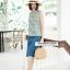 Blossom Sleeveless Top + pants Set_Blue