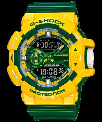 """นาฬิกา Casio G-Shock Limited CRAZY SPORTs Series รุ่น GA-400CS-9A """"BRAZIL""""ของแท้ รับประกันศูนย์ 1 ปี"""