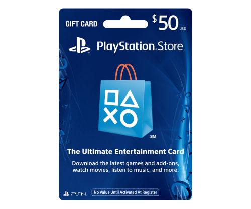 บัตร PSN 50 USD (US)