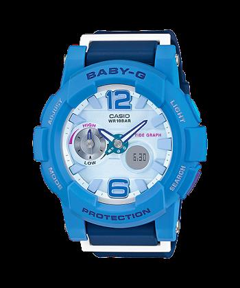 นาฬิกา คาสิโอ Casio Baby-G Standard ANALOG-DIGITAL รุ่น BGA-180-2B3 ของแท้ รับประกันศูนย์ 1 ปี
