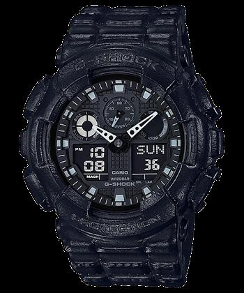 นาฬิกา Casio G-Shock Limited Black Leather Texture series รุ่น GA-100BT-1A ของแท้ รับประกันศูนย์ 1 ปี