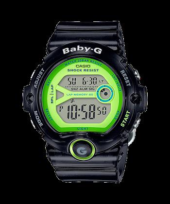 """นาฬิกา Casio Baby-G BG-6903 Jelly series รุ่น BG-6903-1B สีดำใส """"Black Jelly"""" ของแท้ รับประกันศูนย์ 1 ปี"""