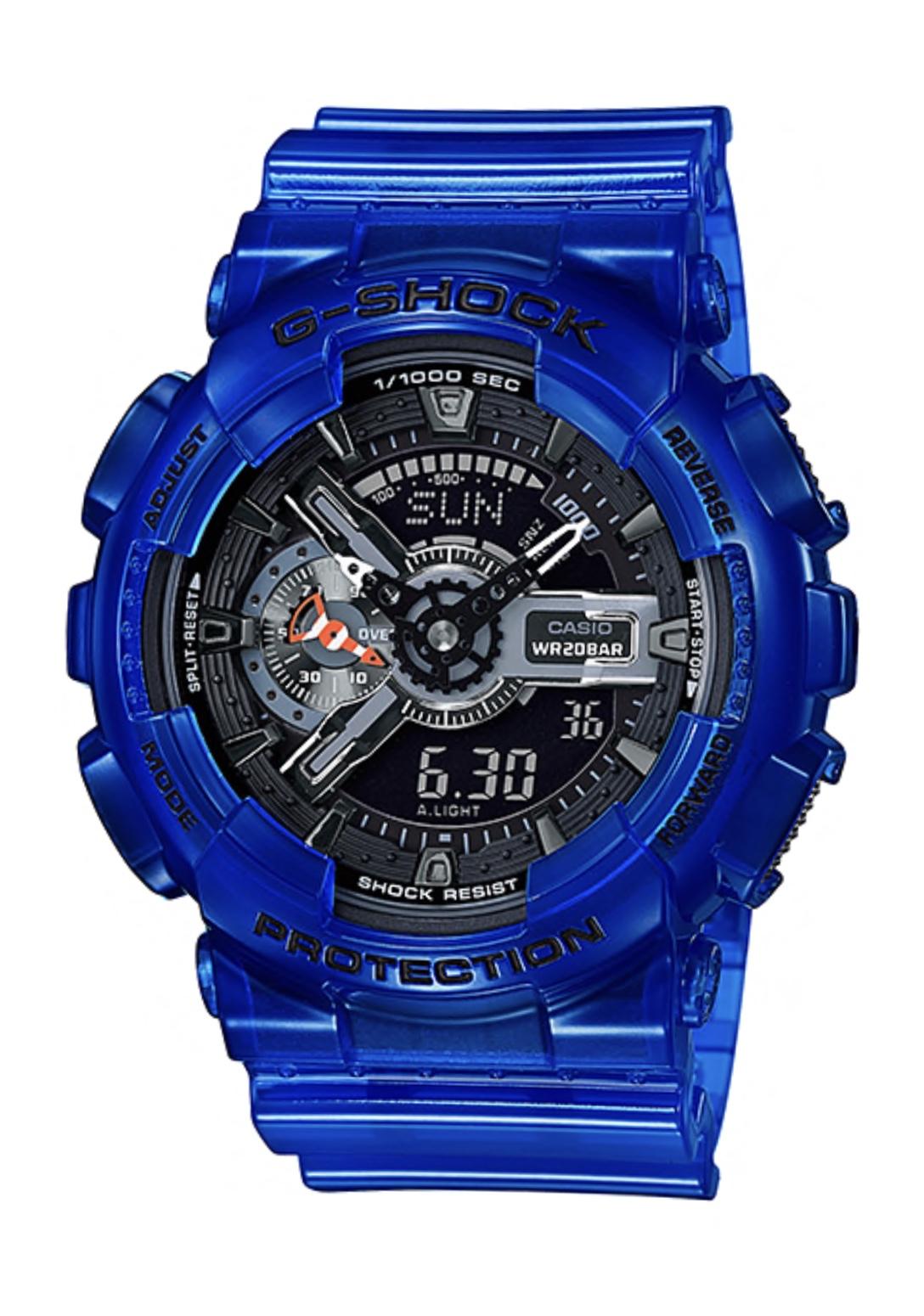 นาฬิกา Casio G-Shock GA-110CR เจลลี่ใส CORAL REEF series รุ่น GA-110CR-2A (เจลลี่สีน้ำทะเล) ของแท้ รับประกันศูนย์ 1 ปี