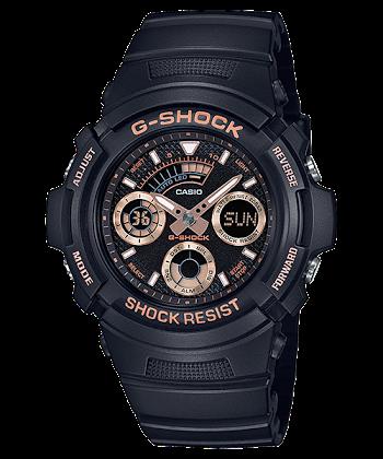 นาฬิกา Casio G-Shock Special Color BLACK&GOLD XTRA Color series รุ่น AW-591GBX-1A4 ของแท้ รับประกันศูนย์ 1 ปี