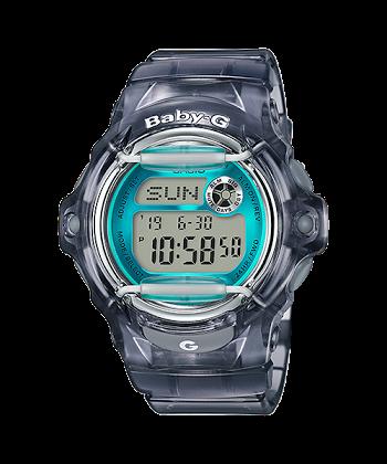 นาฬิกา Casio Baby-G STANDARD DIGITAL รุ่น BG-169R-8B (Jelly ดำใสเทอร์ควอยซ์) ของแท้ รับประกันศูนย์ 1 ปี