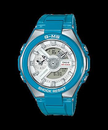 """นาฬิกา Casio Baby-G G-MS """"G-Steel Lady"""" MSG-400 series รุ่น MSG-400-2A สีฟ้า (ไม่วางขายในไทย) ของแท้ รับประกันศูนย์ 1 ปี"""
