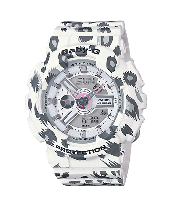 นาฬิกา คาสิโอ Casio Baby-G Girls' Generation Leopard series รุ่น BA-110LP-7A ของแท้ รับประกันศูนย์ 1 ปี