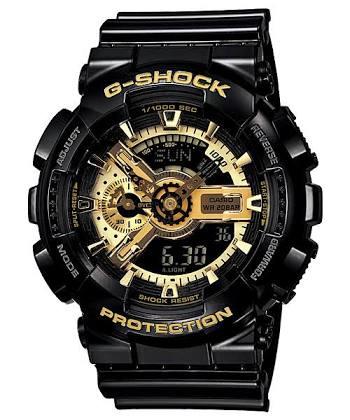 นาฬิกา CASIO G-SHOCK รุ่น GA-110GB-1A GOLD&BLACK SPECIAL COLOR SERIES ของแท้ รับประกัน 1 ปี