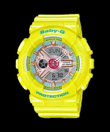 นาฬิกา Casio Baby-G Girls' Generation Sweet Candy Pastel series รุ่น BA-110CA-9A (เหลืองพาสเทล) ของแท้ รับประกันศูนย์ 1 ปี