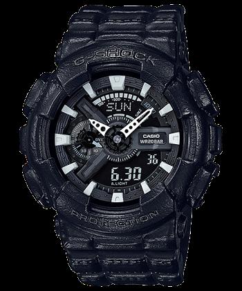 นาฬิกา Casio G-Shock Limited Black Leather Texture series รุ่น GA-110BT-1A ของแท้ รับประกันศูนย์ 1 ปี