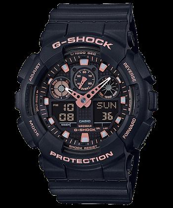 นาฬิกา Casio G-Shock Special Color BLACK&GOLD XTRA Color series รุ่น GA-100GBX-1A4 ของแท้ รับประกันศูนย์ 1 ปี