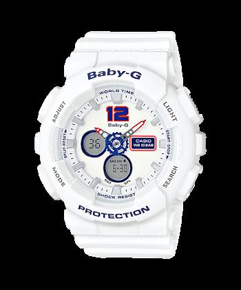 นาฬิกา Casio Baby-G White Tricolor series รุ่น BA-120TR-7B ของแท้ รับประกันศูนย์ 1 ปี