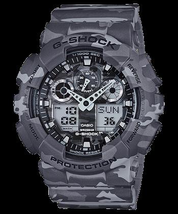 นาฬิกา CASIO G-SHOCK รุ่น GA-100CM-8A CAMOUFLAGE SERIES ของแท้ รับประกัน 1 ปี SPECIAL COLOR ลายพรางทหาร