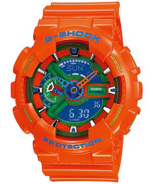 นาฬิกา คาสิโอ Casio G-Shock Limited Hyper Color รุ่น GA-110A-4 ( ส้ม ไฮเปอร์) หายาก ของแท้ รับประกันศูนย์ 1 ปี