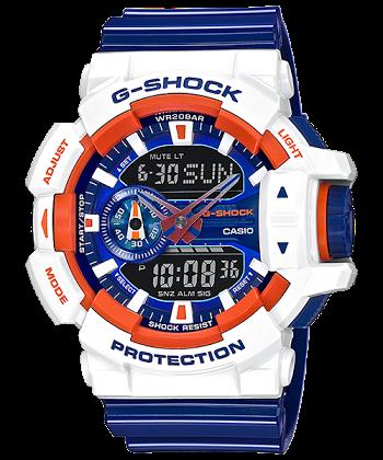 """นาฬิกา Casio G-Shock Limited CRAZY SPORTs Series รุ่น GA-400CS-7A """"FRANCE"""" ของแท้ รับประกันศูนย์ 1 ปี"""
