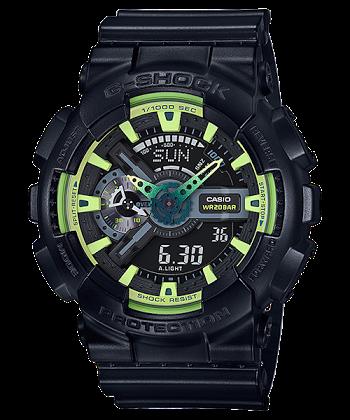 นาฬิกา คาสิโอ Casio G-Shock Limited Lime Accent Color series รุ่น GA-110LY-1A ของแท้ รับประกันศูนย์ 1 ปี (นำเข้า Japan)