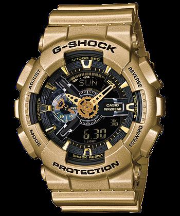 นาฬิกา คาสิโอ Casio G-Shock Limited model Crazy Gold series รุ่น GA-110GD-9B (หายาก) ของแท้ รับประกันศูนย์ 1 ปี