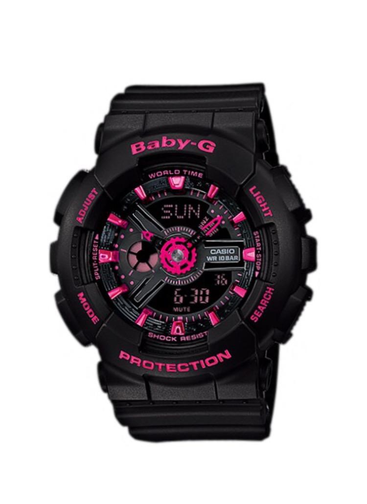 นาฬิกา คาสิโอ Casio Baby-G Girls' Generation Street Neon Duo Color series รุ่น BA-111-1A ของแท้ รับประกันศูนย์ 1 ปี