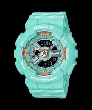นาฬิกา Casio Baby-G BA-110CH CHANCE series รุ่น BA-110CH-3A (มิ้นท์คัพเค้ก) ของแท้ รับประกันศูนย์ 1 ปี