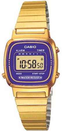 นาฬิกา คาสิโอ Casio STANDARD DIGITAL รุ่น LA670WGA-6 RETRO CLASSIC ของแท้ รับประกันศูนย์ 1 ปี