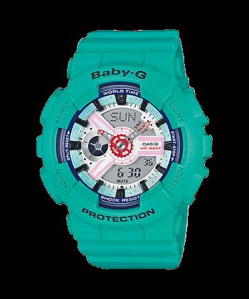 นาฬิกา คาสิโอ Casio Baby-G Girls' Generation Sporty Sneaker series รุ่น BA-110SN-3A สีเทอร์ควอยซ์ ของแท้ รับประกันศูนย์ 1 ปี