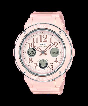 นาฬิกา Casio Baby-G Elegantly Feminine color series รุ่น BGA-150EF-4B (ชมพูพาสเทล) ของแท้ รับประกันศูนย์ 1 ปี