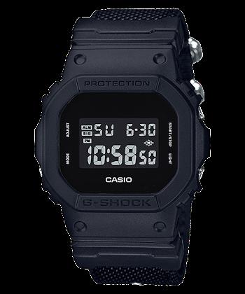 นาฬิกา CASIO G-SHOCK รุ่น DW-5600BBN-1 (สายผ้า) LIMITED BLACK OUT BASIC SERIES ของแท้ รับประกัน 1 ปี
